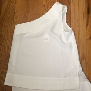 One shoulder with tags Banana Republic top!